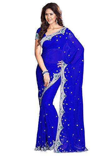 Royal Blue Saree - 1