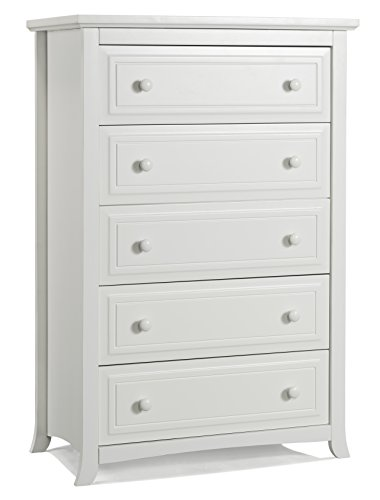 Graco Kendall 5 Drawer Chest, White (Graco Wood)