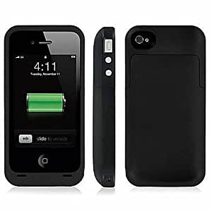 TY External Battery Backup 2000mAh Rechargeable Charger Case Cover Pack Power Bank for iPhone 4 /4S , Yellow