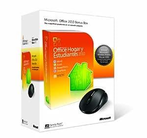 Microsoft Office 2010 Home & Student, Prm, DVD + Wireless Mobile Mouse - Suites de programas (Prm, DVD + Wireless Mobile Mouse, 500 MHz, PC, Caja, Internet Explorer 6.0+ VGA 1024x576 DirectX 9.0c VRAM 64MB, Windows XP (SP3) 32-bit Windows 7 Windows Vista (SP1) Windows Server 2003 (SP2) MSXML 6.0)