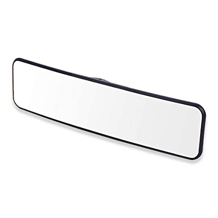 SkycropHD Car Rear View Mirror White Clip on Interior Rearview Mirror Wide Angle to Eliminate Blind Spots Convex