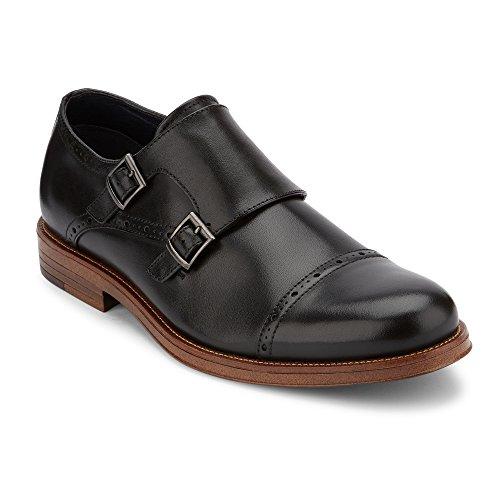 Dockers Mens Maycrest Leather Dress Monk Strap Oxford Shoe Black