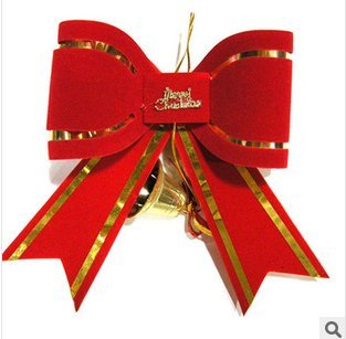 double layer three dimensional christmas red bow tie30cm37cmchristmas decoration