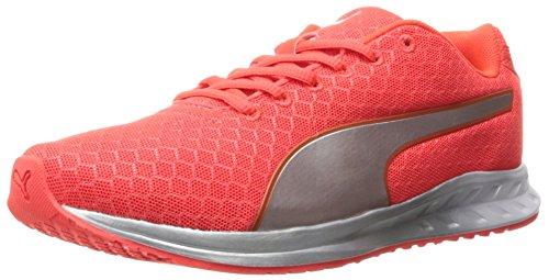 PUMA Women's Burst Metal Wn's Running Shoe, Red Blast Silver, 7 M US