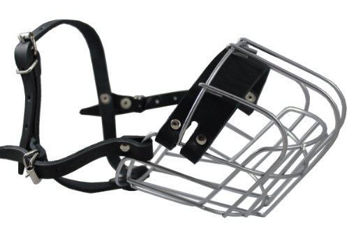 (Dogs My Love Metal Wire Basket Dog Muzzle Rottweiler. Circumference 15