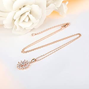 Bamoer Christmas Drop Necklaces Big Promotion!! White Diamond Pendant Necklace Sun Women Necklace Jewelry