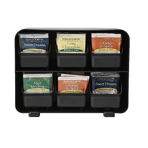 Holder Tea (Mind Reader 6 Drawer Tea Bag Holder and Organizer, Black)