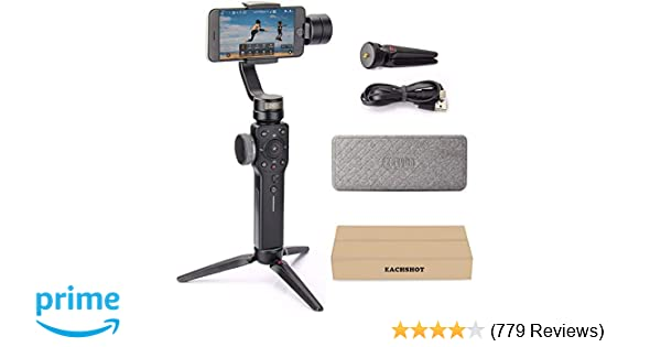 Zhiyun Smooth 4 3-Axis Handheld Gimbal Stabilizer YouTube Video Vlog Tripod  for iPhone Xs Max Xr X 8 Plus 7 6 SE Android Smartphone Samsung Galaxy S10