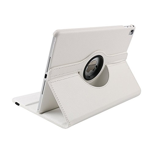Price comparison product image Jennyfly iPad Pro 11 inch 2018 Case, 360 Degree Rotating Soft Smooth PU Leather Lightweight Full Body Protection Cover with Multiple Viewing Angles for 2018 iPad Pro 11 Inch -White