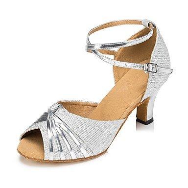 gray Personalizables Tacón Plata Latino Zapatos Oro Personalizado baile Salsa de Gris ZCwxvfOUq