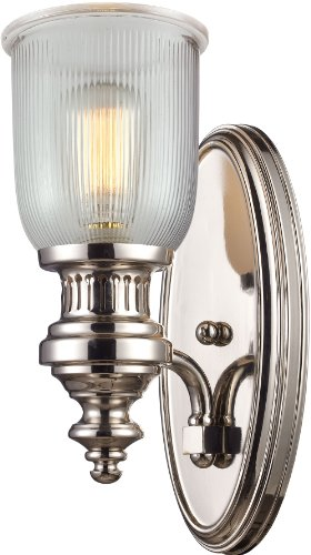 Elk 66780-1 7 by 15-Inch Chadwick 1-Light Wall Sconce, Polished Nickel Finish ()