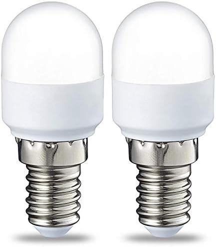 AmazonBasics Lampadina LED T25, Attacco E14, 1.7 W (equivalenti a 15 W), Luce Bianca Calda, Pacco da 2