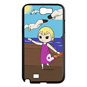 Samsung Galaxy N2 7100 Cell Phone Case Black_The Legend of Zelda The Wind Waker Aryll_003 Luhem