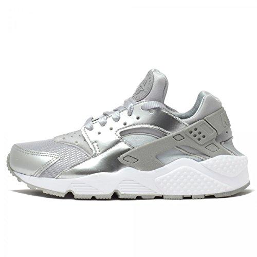 Nike Womens Air Huarache Metallic Silver White Trainer