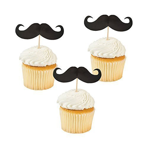 Party Supplies - Mustache Food and Cupcake Party Picks (2-Pack of 25)