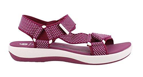 CLARKS Women's Brizo Cady Platform Fuchsia-White-dots 7.5 Medium US