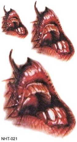 WSJDE Nicro Halloween Zombie Scars Tatuajes con costra Falsa ...