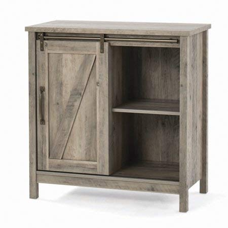 Homes & Gardens Modern Farmhouse Accent Storage Cabinet, Rustic Gray Finish ()