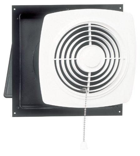 Broan 506 Chain Operated Utility Fan, 10-Inch 470 CFM 8.0 (Kitchen Wall Vent Fan)