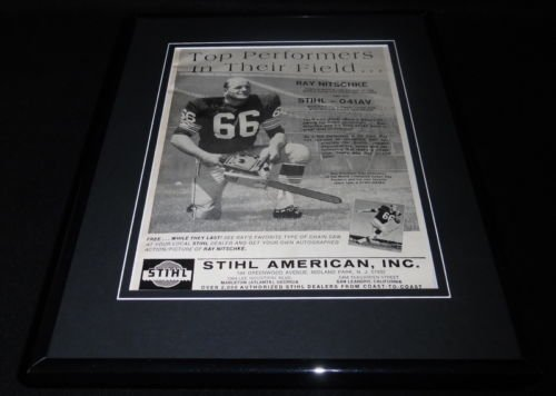 ray-nitschke-1968-stihl-chansaw-framed-11x14-original-vintage-advertisement