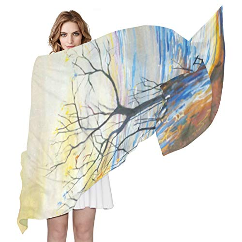Women Silk Scarf Vintage Painting Customized Winter for sale  Delivered anywhere in Canada
