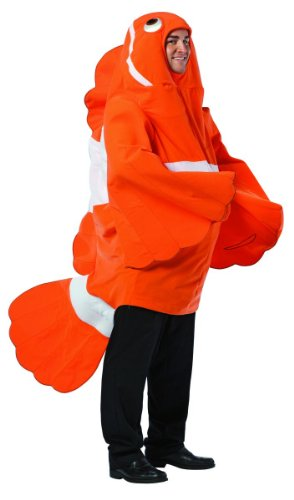 Fish Costumes For Men (Clownfish Costume - One Size - Chest Size 48-52)