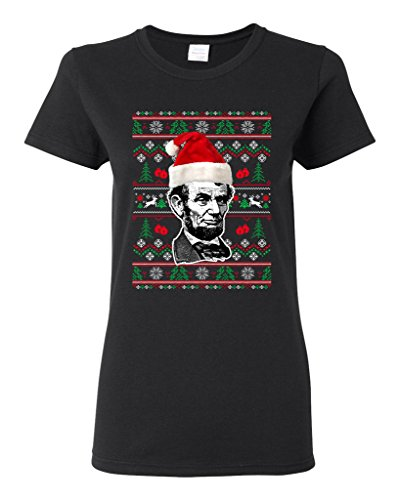 ladies-abraham-lincoln-president-usa-ugly-christmas-funny-dt-t-shirt-tee