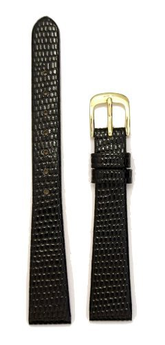 Grain Ladies Watch Band (Ladies Lizard Grain Leather Watchband Black 13mm Watch Band - by JP Leatherworks)