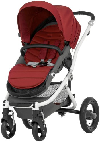 Britax Affinity Complete Stroller - Red Pepper - White