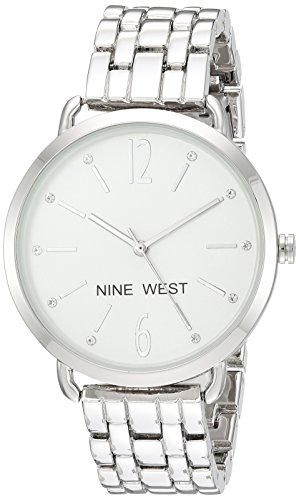 Nine West Women's Quartz Metal and Alloy Dress Watch, Color:Silver-Toned