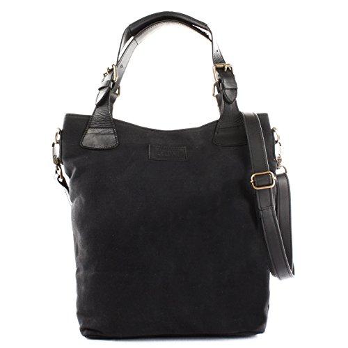 Leconi, sac fourre-tout noir pour femmes