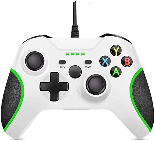 Xbox One Controller Wired Xbox Controller PC Controller with Vibration Feedback Wired Gamepad Game Controller for Xbox One Series and PC