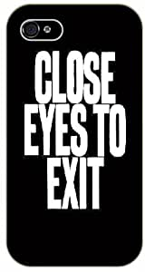 """iPhone 6 (4.7"""") Close eyes to exit - black plastic case / Life and dreamer's quotes"""