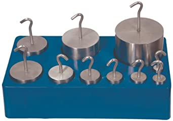 United Scientific, Stainless Steel Metric, Hooked, Weight, Set, (77739)