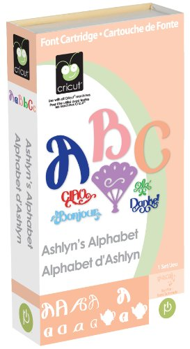 Cricut Cartridge, Ashlyn's Alphabet (Provo Cricut Inks Craft)