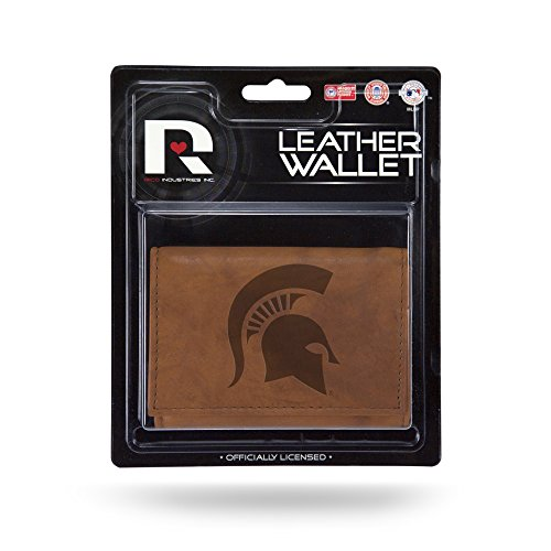 NCAA Michigan State Spartans Leather Trifold Wallet with Man Made Interior