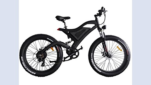 Bpmimports BLACK FRAME BLACK RIMS 750WATS FAT TIRE ELECTRIC BICYCLE BIKE SAMSUNG BATTERY FULL SUSPENSION !!2018 MODEL!!!!