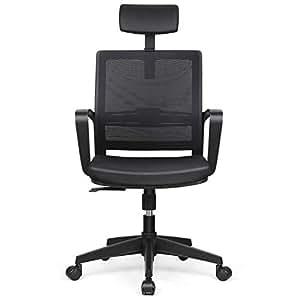 Intey silla de oficina silla ergon mica ajustables for Silla ergonomica amazon