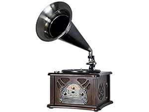 Roadstar HIF-1800TUMPK Negro, Marrón tocadisco: Amazon.es ...