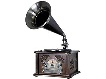 Roadstar HIF-1800TUMPK Negro, Marrón tocadisco - Tocadiscos (Negro, Marrón, 33,45 RPM, 35 W, MP3, Corriente alterna, 370 mm)
