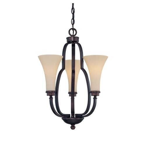 Finish English Bronze (Savoy House 1P-967-3-13 Chandelier with Amber Glass Shades, English Bronze Finish)