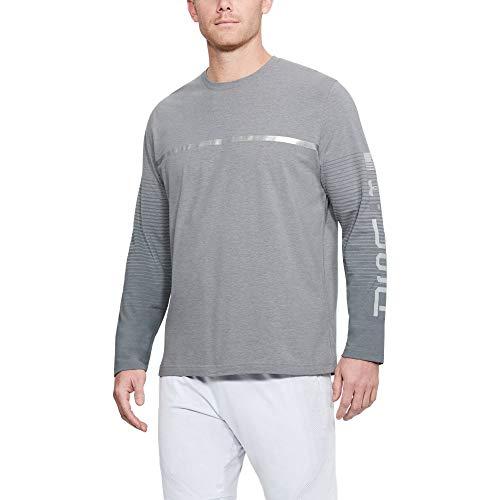 (Under Armour Men's Usa Long Sleeve Top, Steel Light Heather /Elemental, Medium)