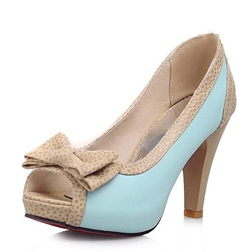 Heels Summer Pump Black Pink Blue ZHZNVX Polyurethane PU Heel Women's Blue Shoes Basic Stiletto vBwx0qIYF