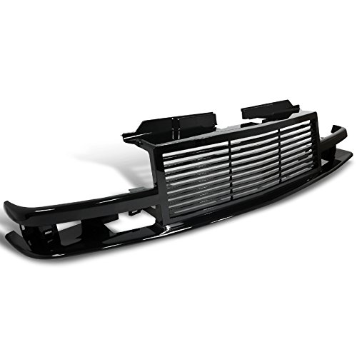 Spec-D Tuning HG-S1098JM Shinny Black Chevy S10 Pick Up Blazer Front Bumper Grille 1Pc