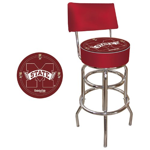 NCAA Mississippi State University Padded Swivel Bar Stool with ()
