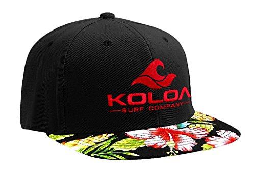 Koloa Surf-Classic Wave Logo Snapback Hats Red Hawaiian with Red Logo