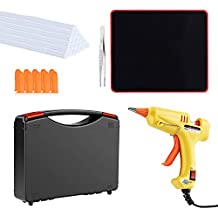 Hot Glue Gun Kit with Glue Sticks 20 Pcs Mini Glue Gun, Mouse Pad, Portable case for DIY Small Projects, Craft and Arts & Home Or School Quick Repair Sealing Use, Christmas Decoration/Gift (20 Watt)