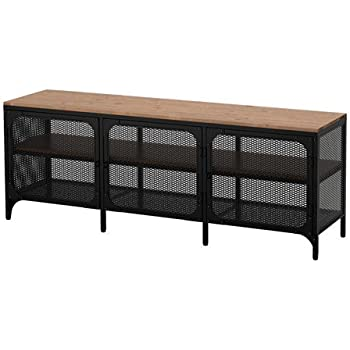 Amazon Com Ikea Tv Bench Stand Unit Black Brown Width