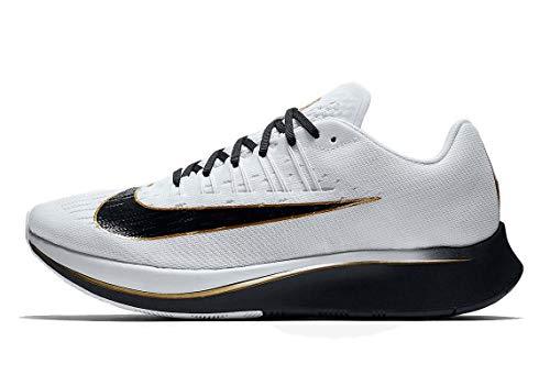 Nike Men's Zoom Fly Running Shoes-Black/White/Metallic Gold-9.5