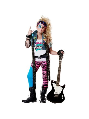 80S Glam Rocker Girls Costume (Rocker Girl Halloween Costume)